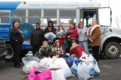 Help Sub Zero Mission Stuff the Bus with donated items.