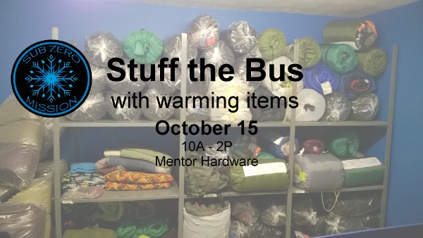 Stuff the Bus at Mentor Hardware