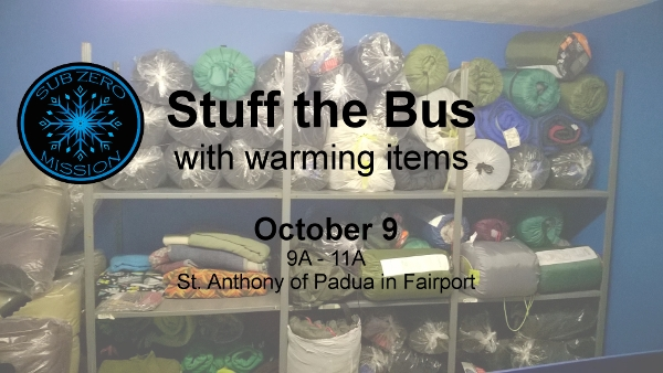 Stuff the Bus at St Anthony's in Fairport