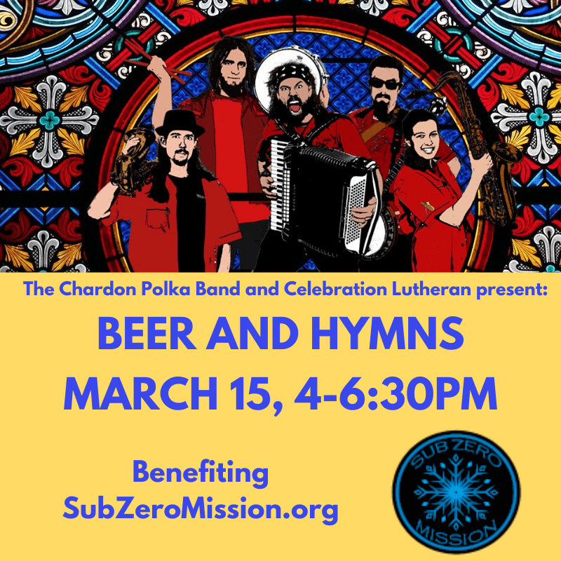 The Chardon Polka Band for a Beer & Hymns Event