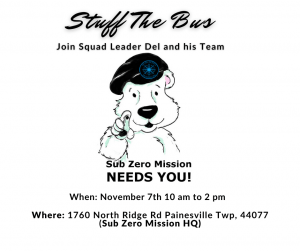 Stuff The Bus at Sub Zero Mission HQ